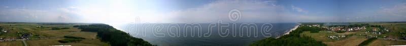 Panoramaküstenlinie lizenzfreie stockfotos