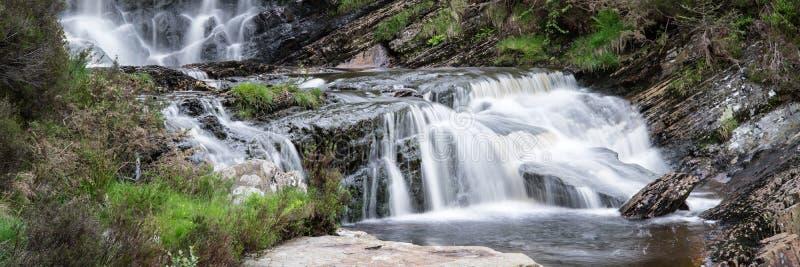 Panoramalandschaftswasserfalldetail lizenzfreie stockbilder