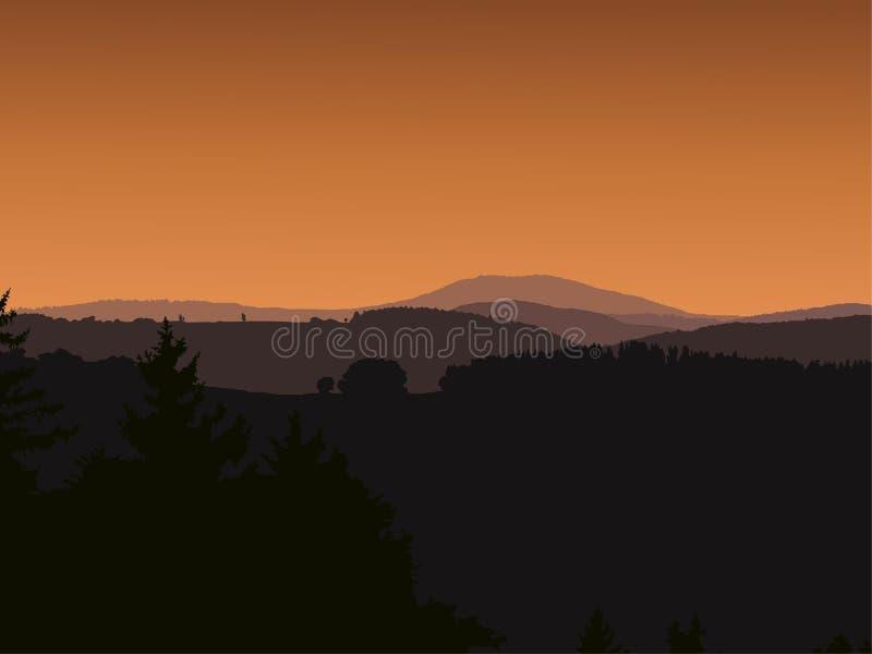 Panoramalandschap vector illustratie
