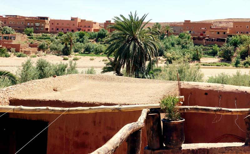 Panoramalucht Benhaddou, Marokko, Afrika royalty-vrije stock fotografie