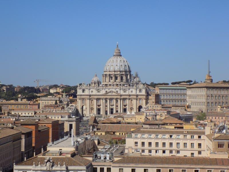 Panoramamening naar het Vatikaan royalty-vrije stock afbeeldingen