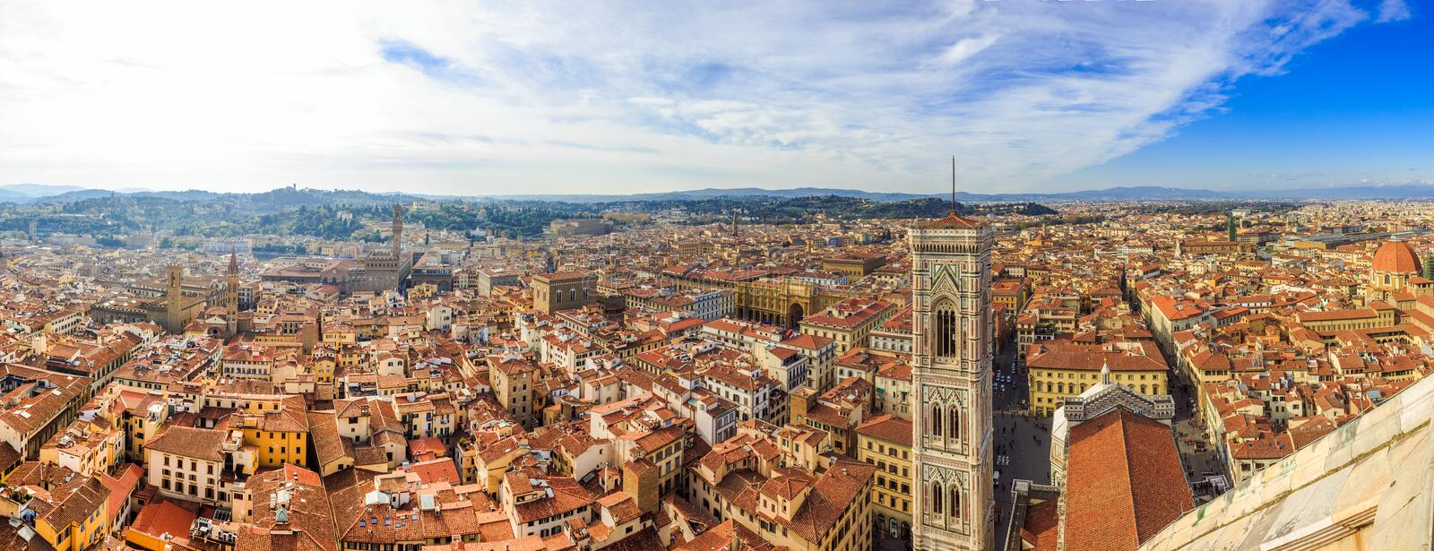 Panoramamening over Florence royalty-vrije stock foto's