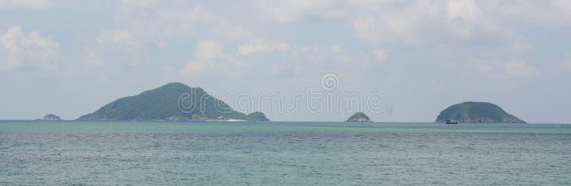Panoramamening van Con Dao Island stock afbeelding