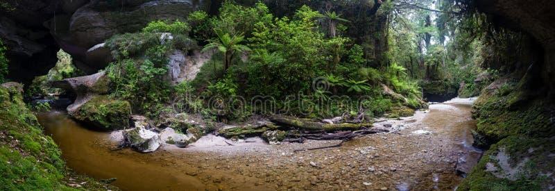 Panoramamening van de Boog van de Honingraatheuvel, Nieuw Zeeland royalty-vrije stock afbeeldingen