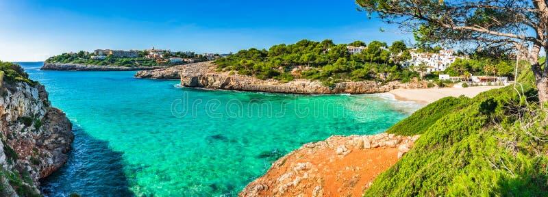 Panoramamening van de kustlijn op Majorca-Eiland, Spanje royalty-vrije stock fotografie