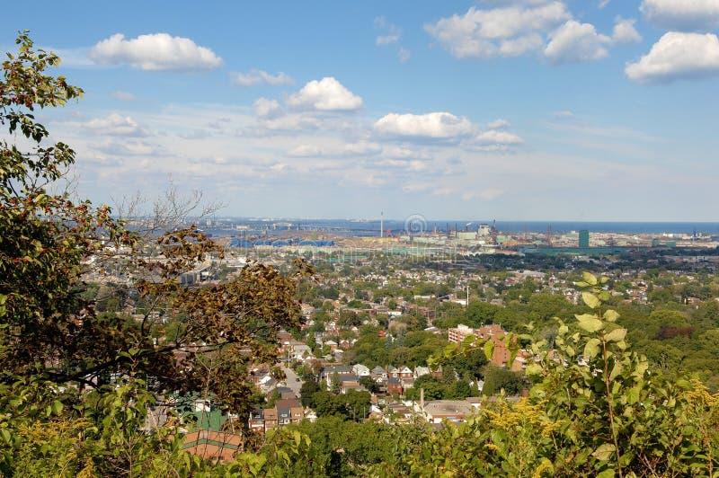 Panoramamening van Hamilton, Canada stock fotografie