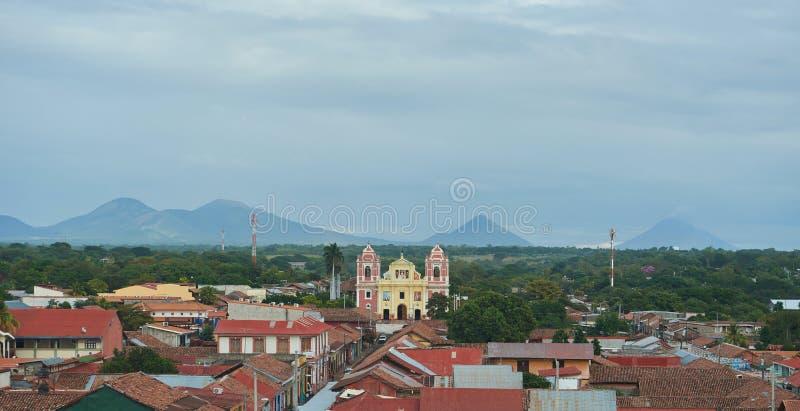 Panoramamening van Leon-stad royalty-vrije stock foto's