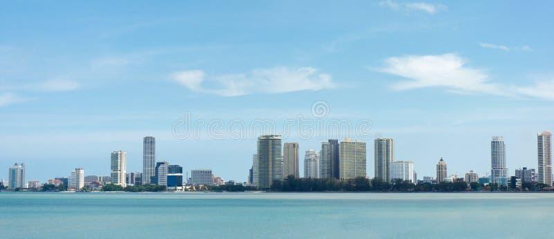 Panoramamening van Penang stock afbeeldingen