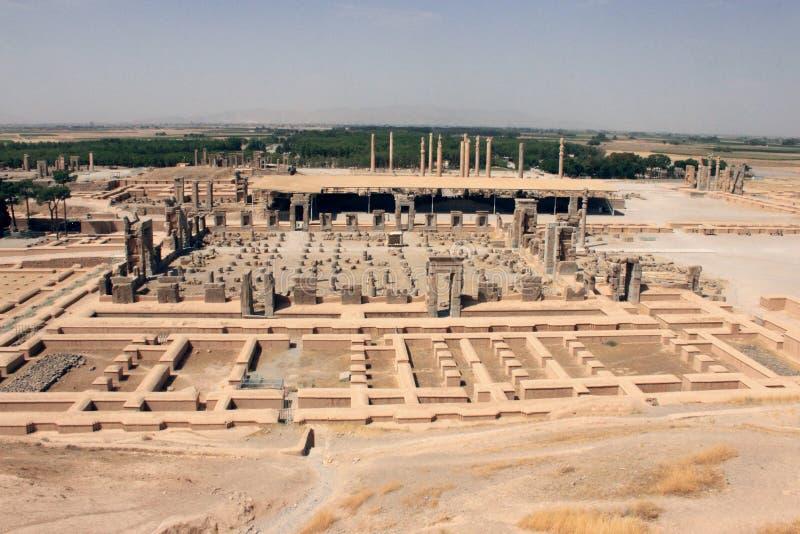 Panoraman av Persepolis (Iran) royaltyfri bild