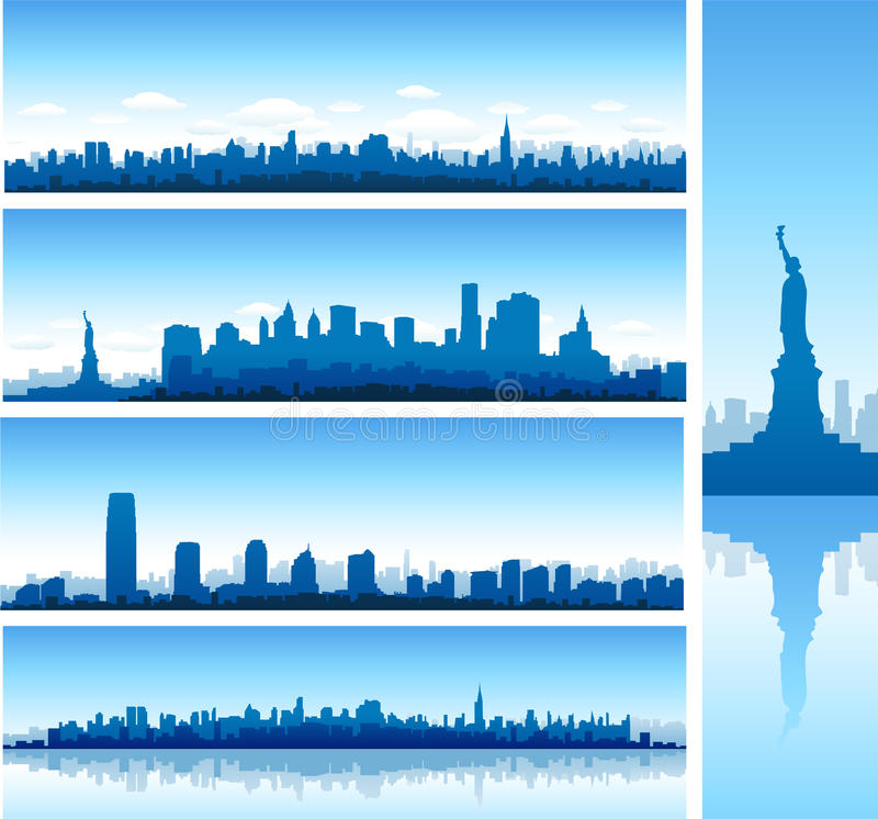 Panoramas de New York City illustration libre de droits