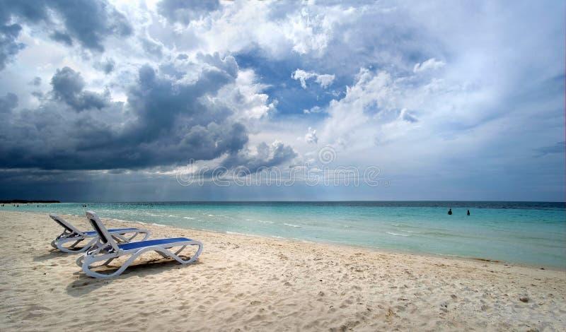 Panoramas des Meeres und der Inseln stockbilder