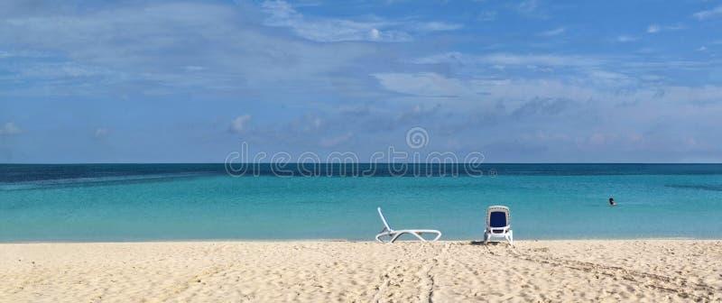 Panoramas des Meeres und der Inseln stockbild
