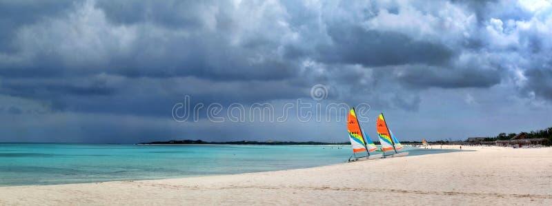 Panoramas des Meeres und der Inseln stockfoto