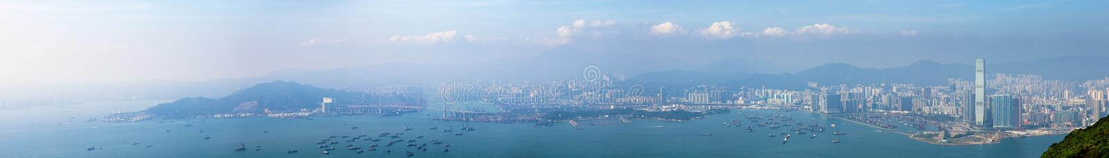 Panoramas of Hong Kong West stock photo