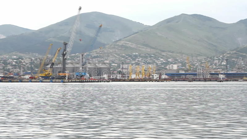 PanoramaSeehafen und Ufergegend stock video