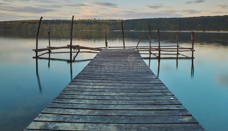Panoramasicht auf den Fluss Dniester stockfotografie