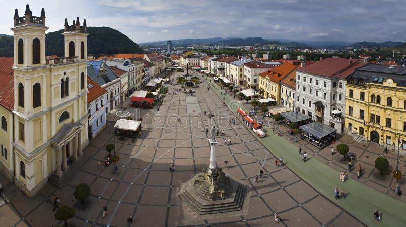 Panoramasikt av Banska Bystrica. royaltyfri bild