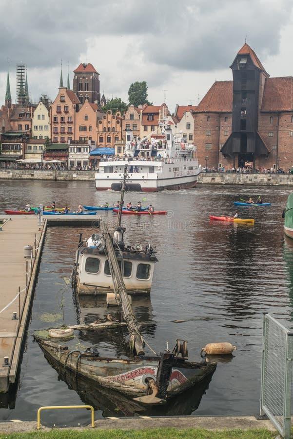 Panoramasikt av Gdansk arkivfoto