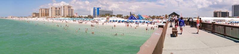 Panoramasikt från pir 60, Clearwater strand Florida, arkivbild