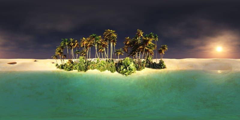 Panoramasolnedgång miljööversikt HDRi stock illustrationer