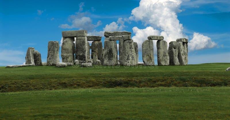 panoramastonehenge royaltyfri foto