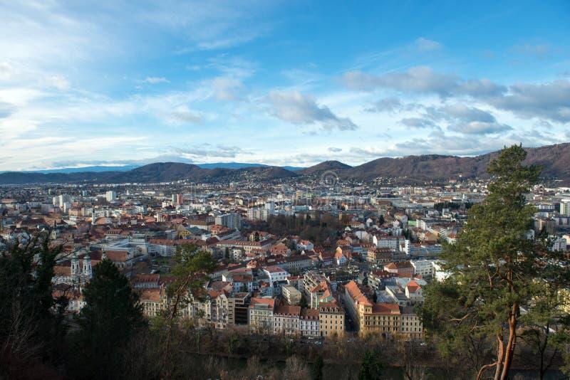 Panorama av Graz royaltyfri foto