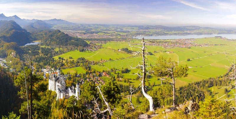 Panoramat landskap i bavaria arkivfoton