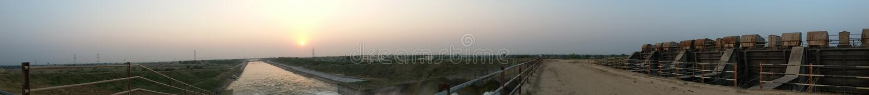 Panoramatic Suset fotografia stock