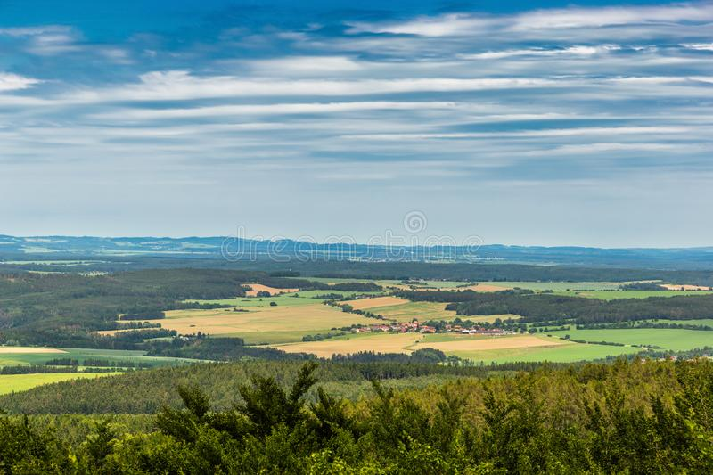 Panoramatic view of the South Bohemia and surrounding landscape, Czech Republic.  stock photos