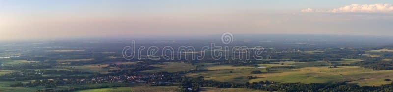 Panoramatic widok od Kravi góry, czecha krajobraz obraz royalty free