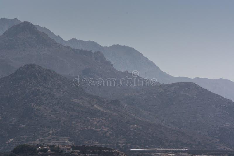 Panoramatic widoku góry, Crete Grecja obrazy royalty free