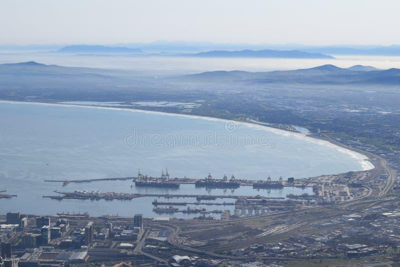 Panoramatisk syn på Kapstaden i södra Afrika fotografering för bildbyråer