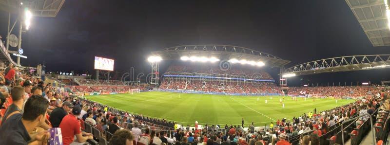 Panoramatisk vy av Toronto FC BMO-fältpanel arkivfoton