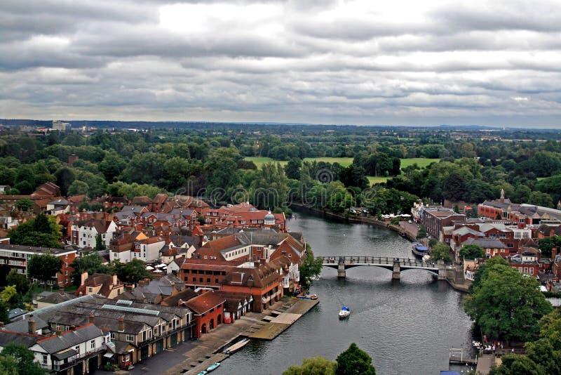 panoramauk-windsor royaltyfri bild