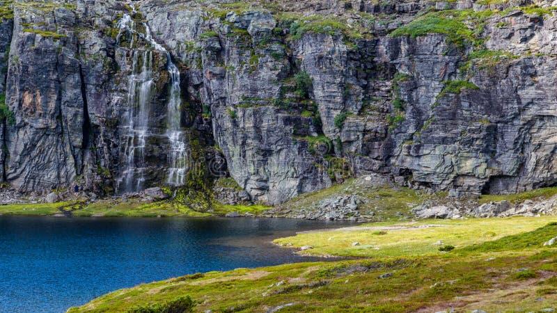 Panoramautsikt Aurland, Sogn og Fjordane, Norge arkivbild