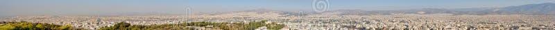 Panoramautsikt av Aten i Grekland royaltyfria foton