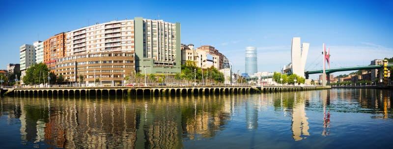Panoramautsikt av Bilbao royaltyfri foto