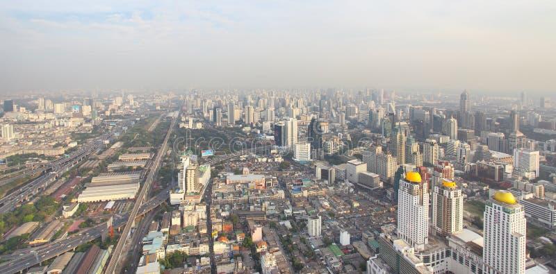 Panoramautsikt av den Bangkok staden royaltyfria foton