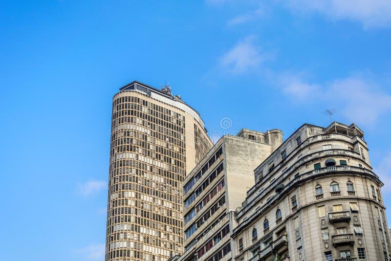 Panoramautsikt av den berömda skyskrapaItalia byggnaden, i Sao fotografering för bildbyråer