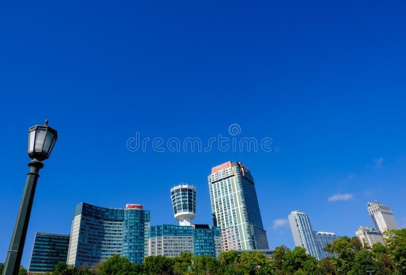 Panoramautsikt av den berömda staden av Niagara, Ontario, Kanada royaltyfri bild