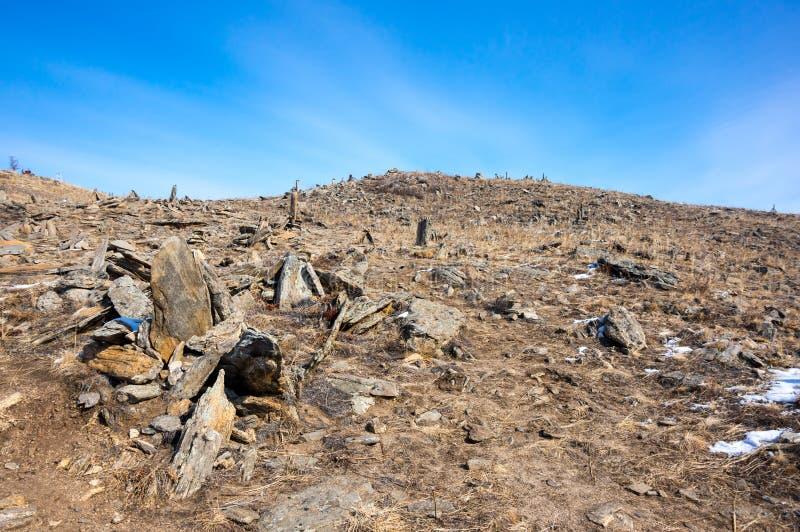 Panoramautsikt av den Ogoy ön royaltyfria bilder