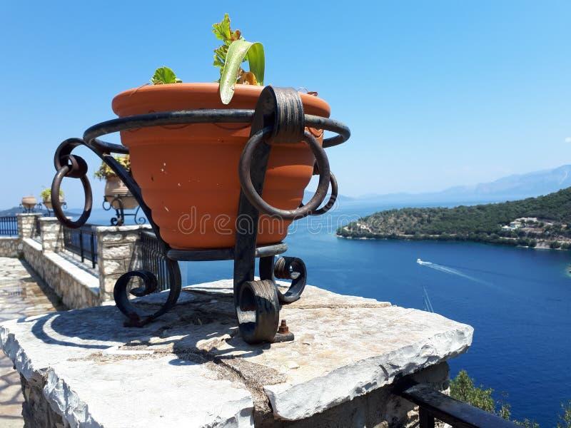 Panoramautsikt av det Aegean havet fotografering för bildbyråer