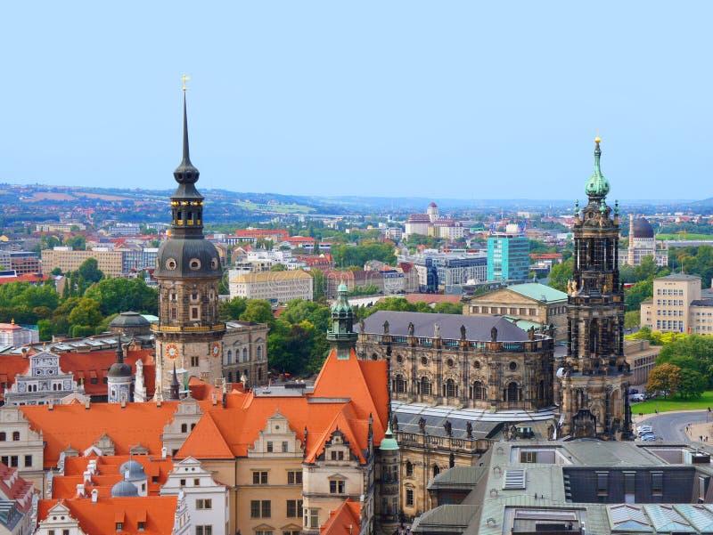 Panoramautsikt av Dresden fotografering för bildbyråer