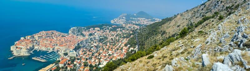 Panoramautsikt av Dubrovnik arkivfoto