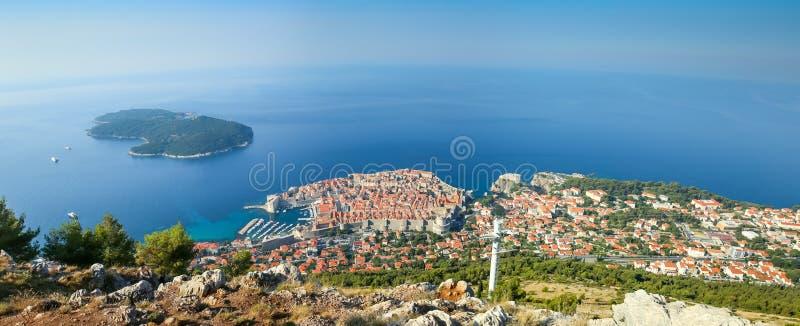 Panoramautsikt av Dubrovnik fotografering för bildbyråer
