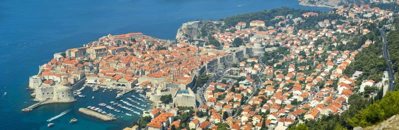Panoramautsikt av Dubrovnik arkivbild