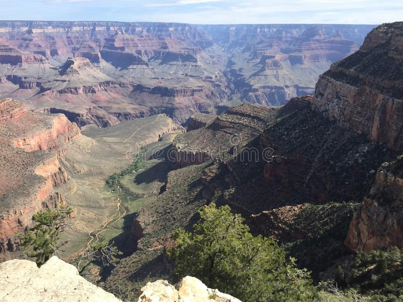 Panoramautsikt av Grand Canyon, Arizona arkivbild