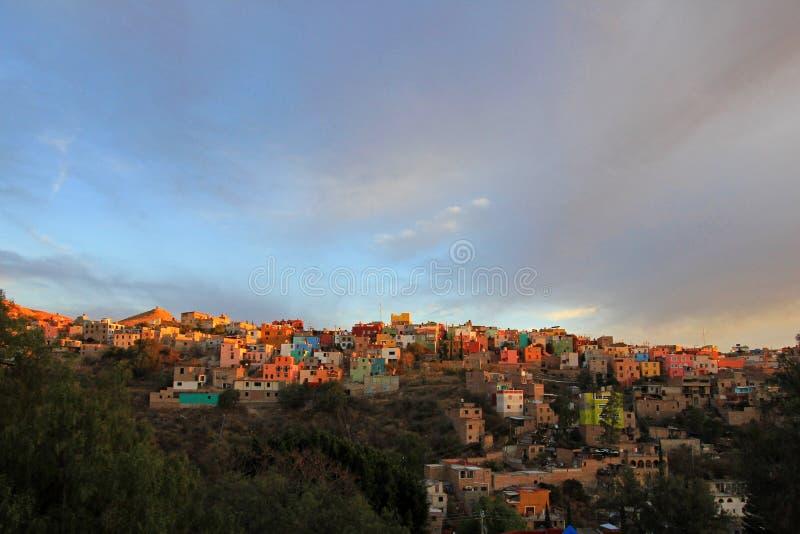 Panoramautsikt av Guanajuato Mexico royaltyfria bilder