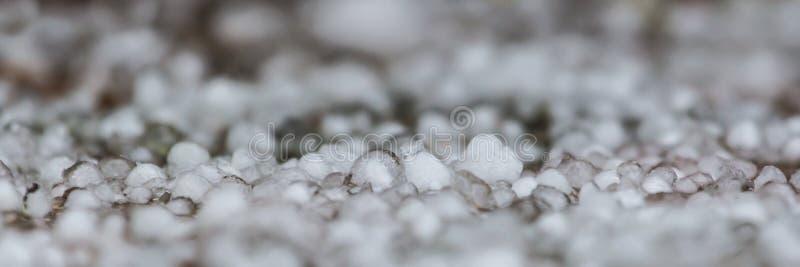 Panoramautsikt av hagel fotografering för bildbyråer