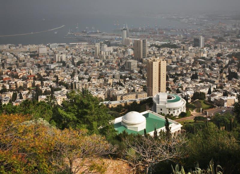 Panoramautsikt av Haifa israel royaltyfri bild